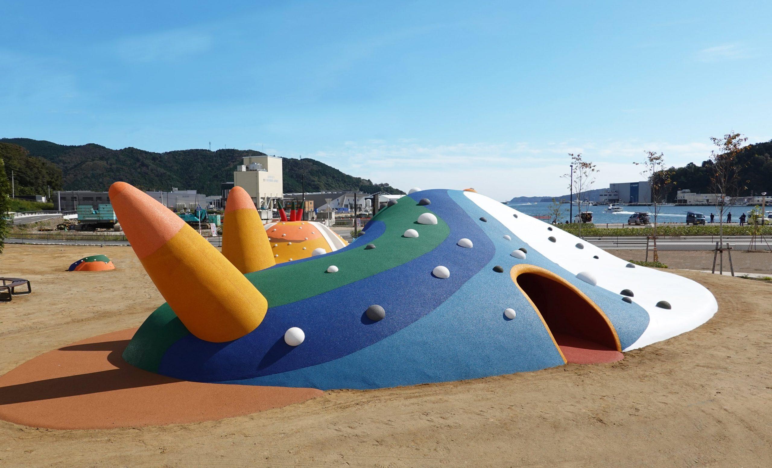 """マッシュパーク女川、海洋生物をイメージした""""遊べるアート""""の公園がオープン"""