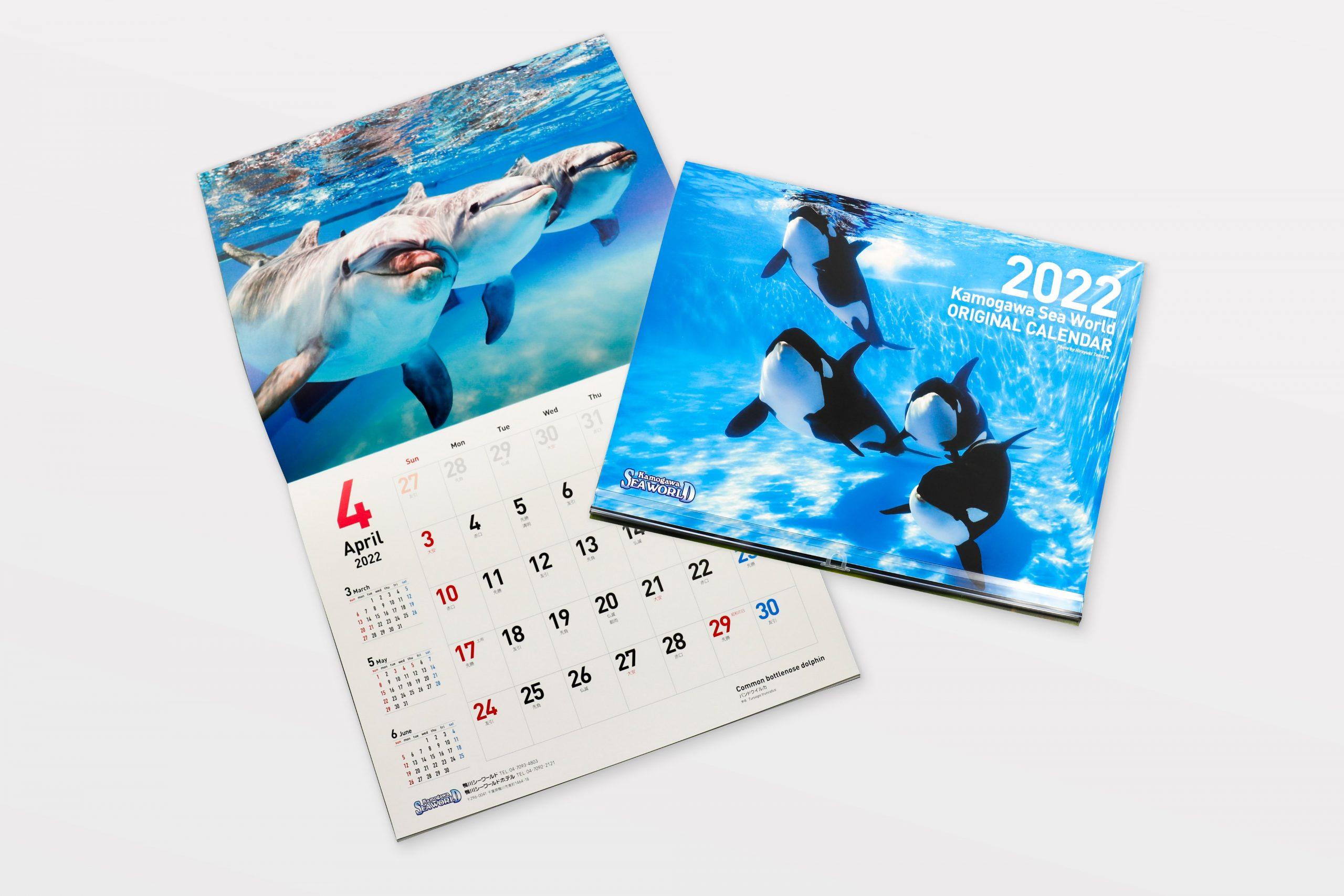 水中写真家・戸村裕行氏による、2022年度「鴨川シーワールドオリジナルカレンダー」が販売開始